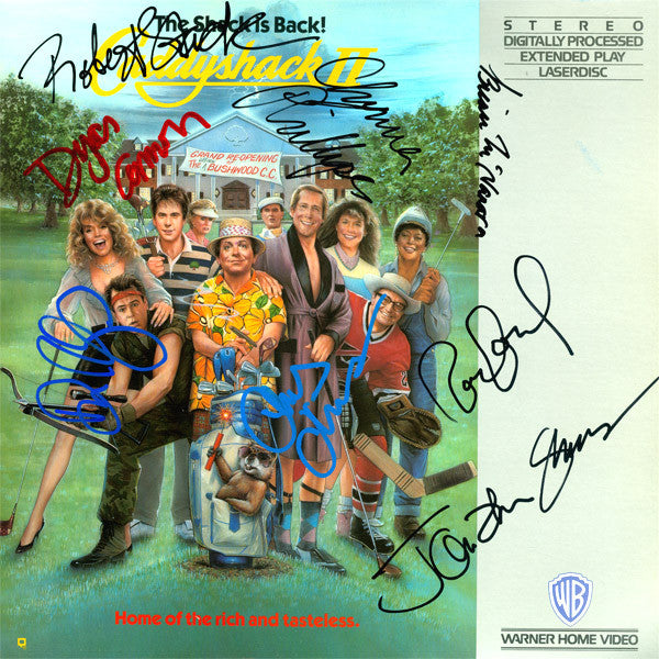 Caddyshack II Cast Signed by 8 Laser Disc