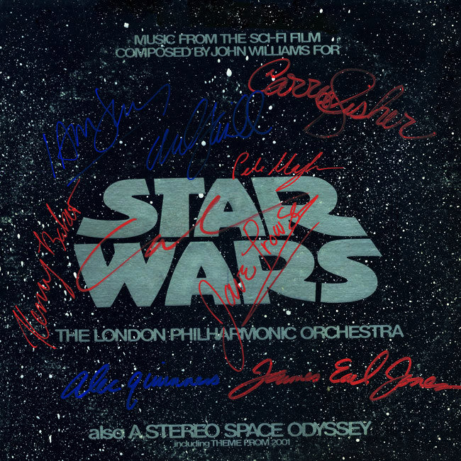 Star Wars Cast Signed By 9 Movie Soundtrack - Zion Graphic Collectibles