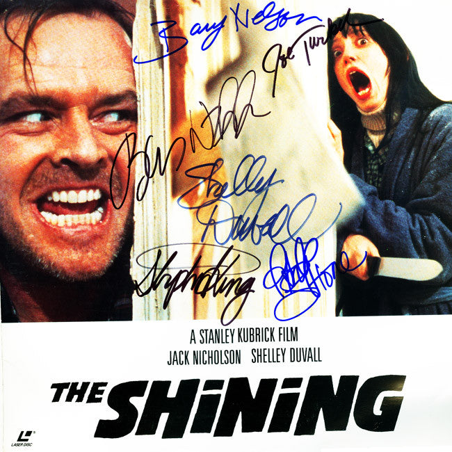 The Shining Cast Signed by 6 Laser Disc - Zion Graphic Collectibles