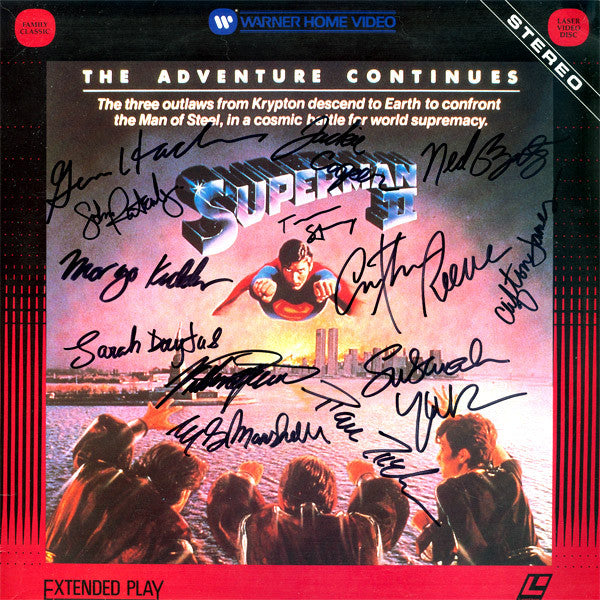 Superman II Signed by 13 Movie Laser Disc