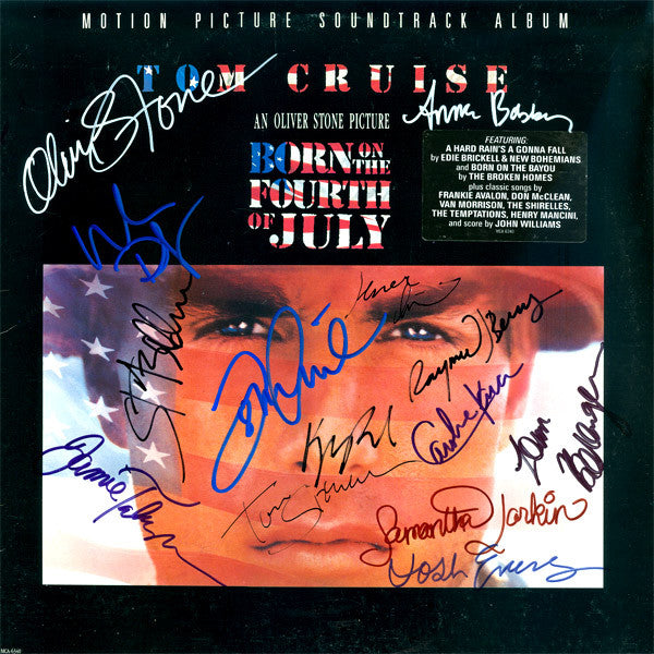 Born On The 4th Of July Cast Signed By 14 Movie Soundtrack - Zion Graphic Collectibles