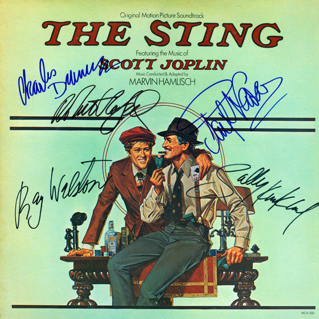 The Sting Signed by 6 Movie Soundtrack