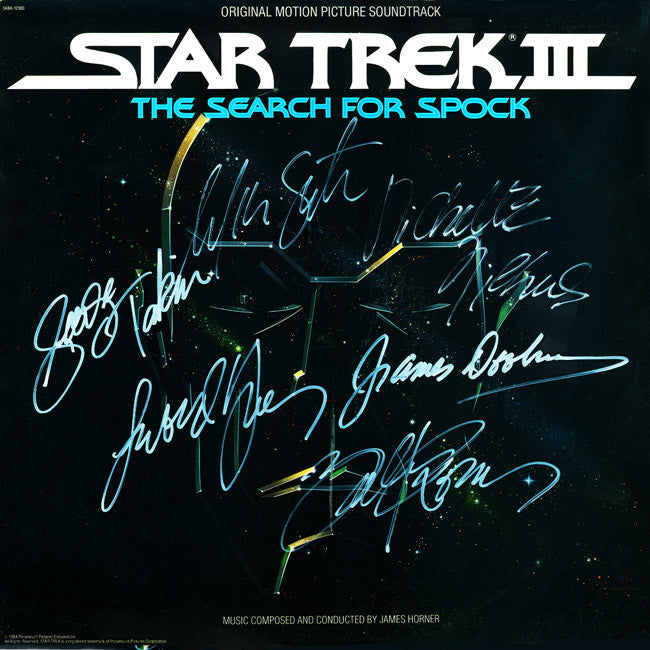 Star Trek III The Search For Spock Cast Signed by 10 Laser Disc