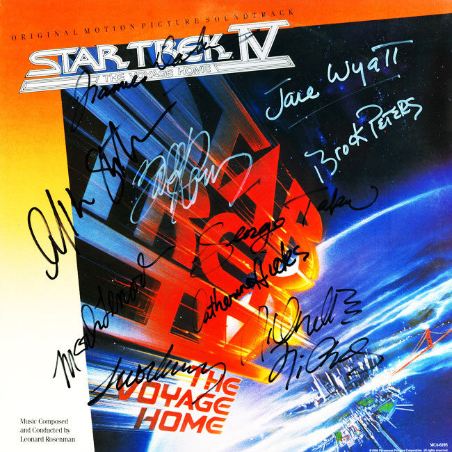 Star Trek IV The Voyage Home Cast Signed by 11 Movie Soundtrack