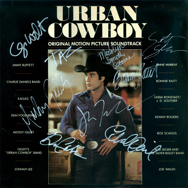 Urban Cowboy Cast Signed by 9 Movie Laser Disc - Zion Graphic Collectibles