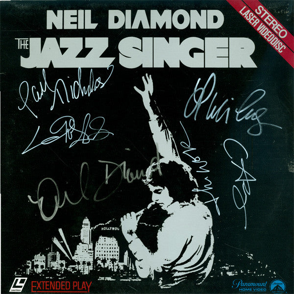 The Jazz Singer Cast Signed by 6 Laser Disc