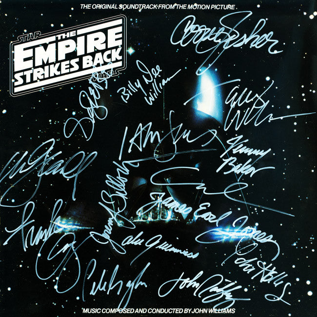 Empire Strikes Back Cast Signed by 15 Movie Soundtrack