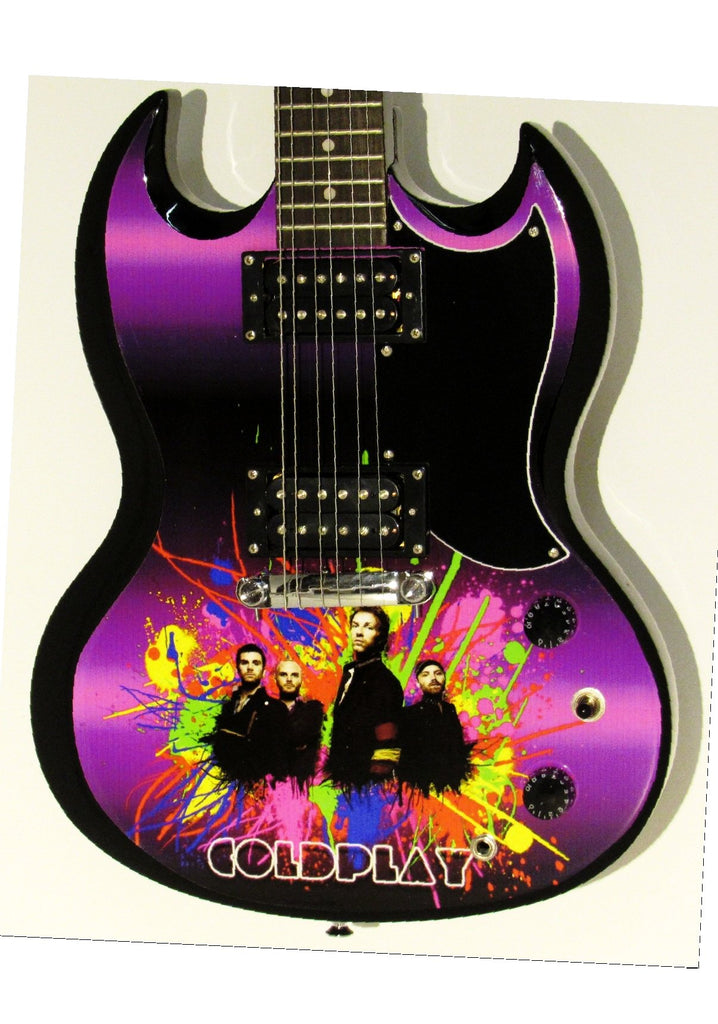 Coldplay Copy of Custom Gibson Epiphone SG Guitar - Zion Graphic Collectibles
