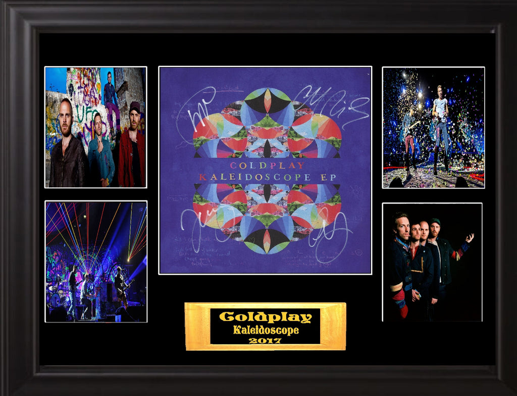 Coldplay Autographed LP Flat - Zion Graphic Collectibles