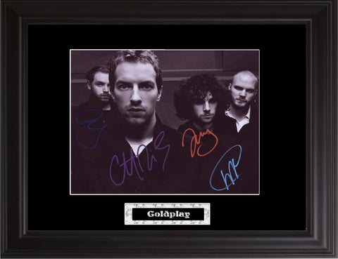 Coldplay Autographed Photo