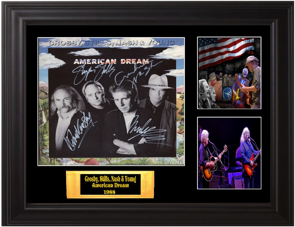 Crosby, Stills, Nash and Young Autographed Lp - Zion Graphic Collectibles