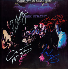 "Crosby, Stills, Nash & Young Autographed Lp ""4 Way Street"""
