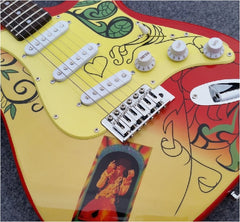 Jimmy Hendrix Custom Comemorative Monterey Festival Guitar - Zion Graphic Collectibles