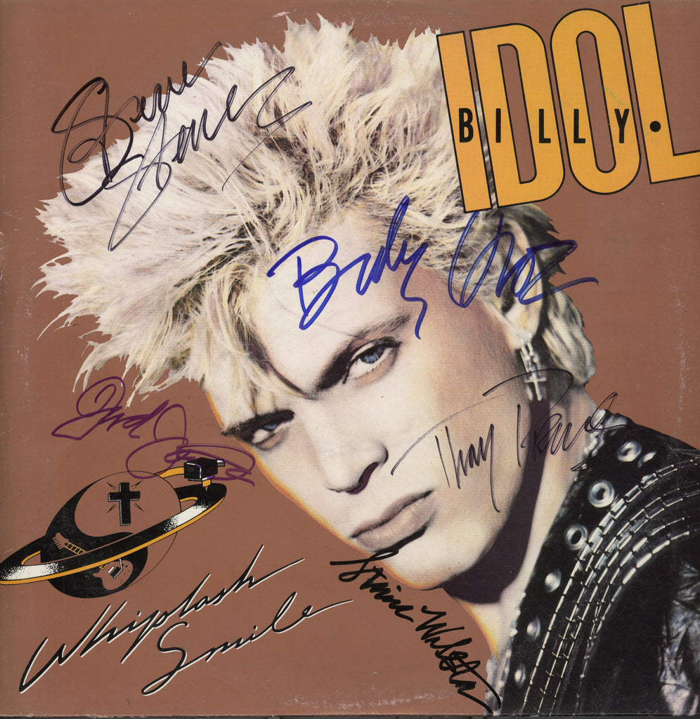 Billy Idol Band Signed Whiplash Smile Album - Zion Graphic Collectibles