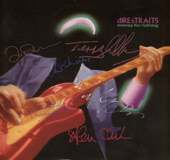 Dire Straits Band Signed Money for Nothing Lp