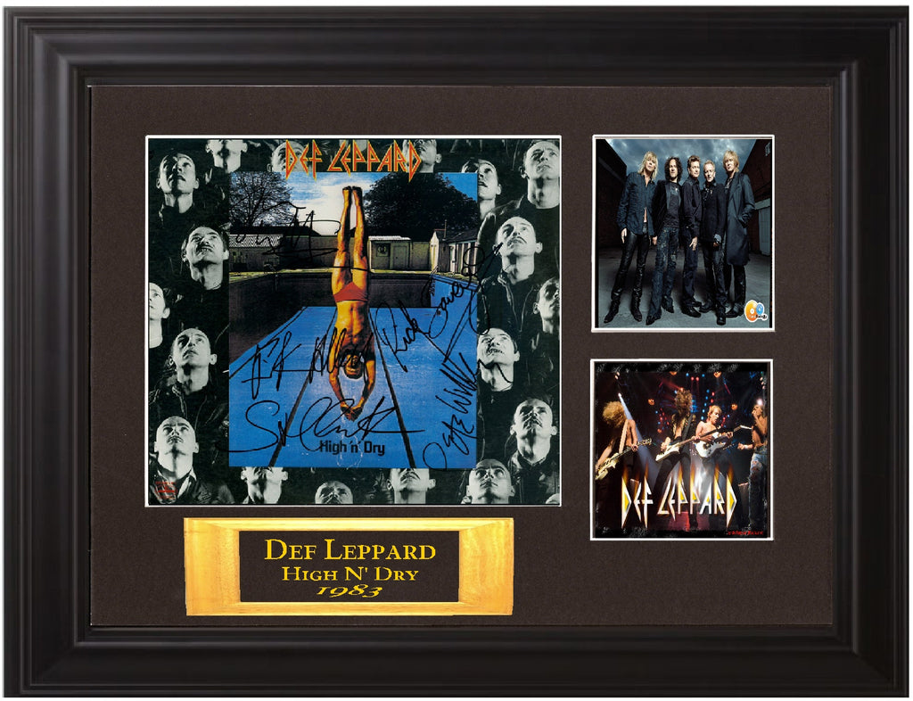 "Def Leppard Autographed Lp ""High n' Dry"""
