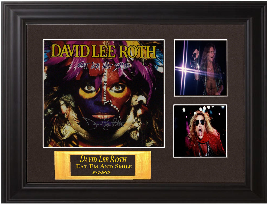 "David Lee Roth Autographed Lp ""Eat 'Em and Smile"" - Zion Graphic Collectibles"