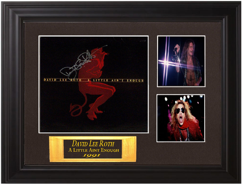 David Lee Roth Autographed lp - Zion Graphic Collectibles