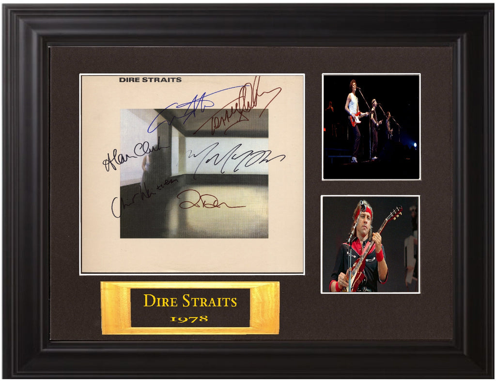Dire Straits Autographed lp - Zion Graphic Collectibles