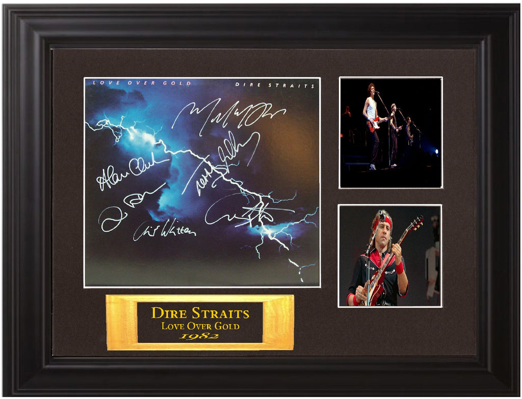 "Dire Straits Autographed Lp ""Love Over Gold"""