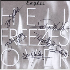 The Eagles Autographed Hell Freezes Over LP Flat - Zion Graphic Collectibles