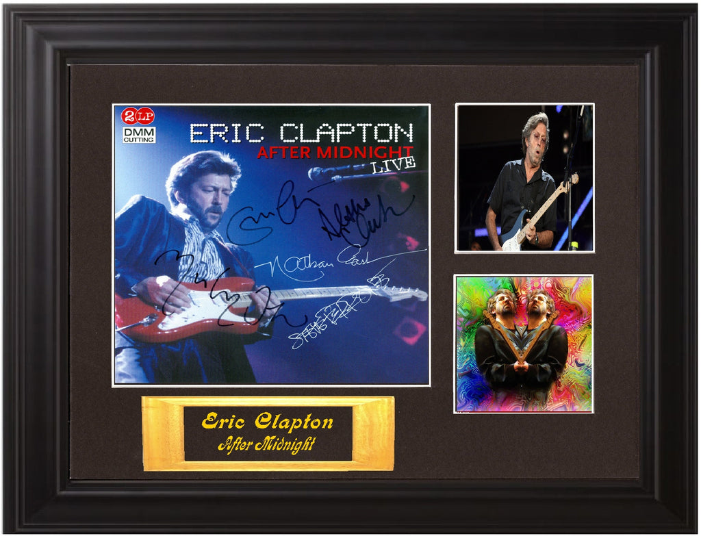 "Eric Clapton Autographed Lp ""After Midnight - Live"""
