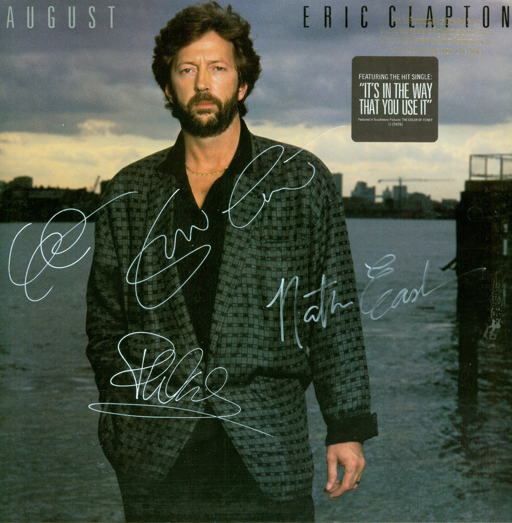 Eric Clapton Autographed lp - Zion Graphic Collectibles