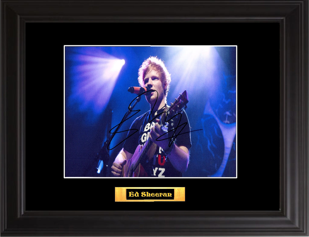 Ed Sheeran Autographed Photo - Zion Graphic Collectibles