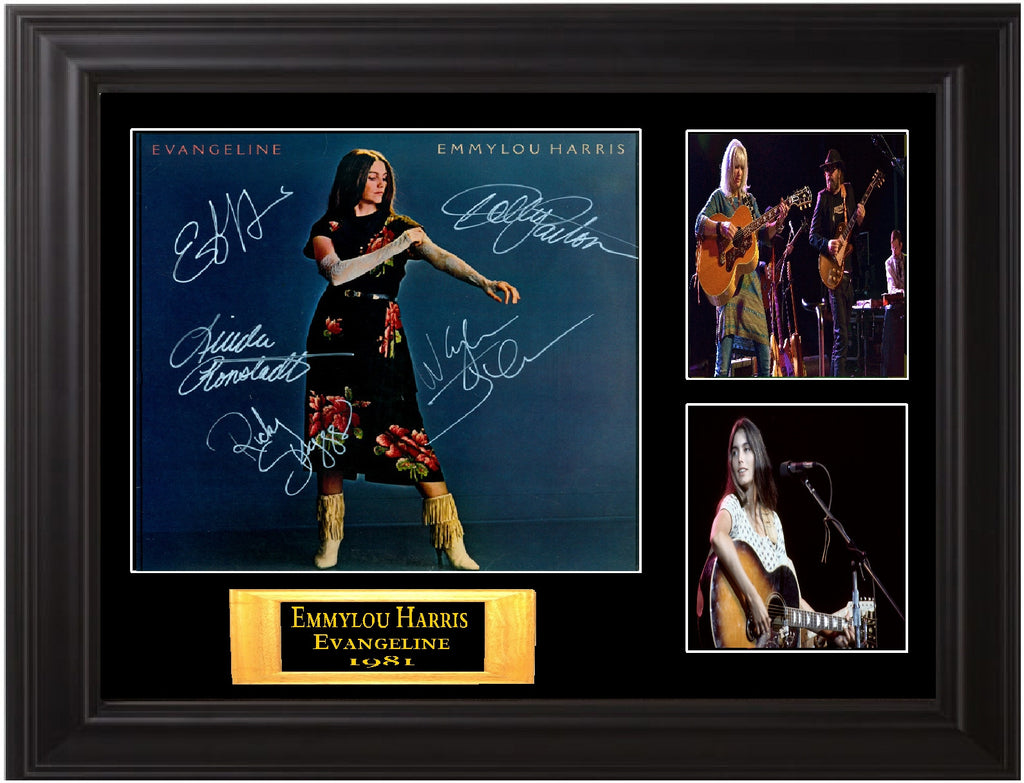Emmylou Harris Band Signed Evangeline Album - Zion Graphic Collectibles
