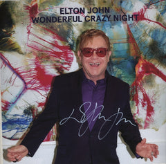 Elton John Autographed Wonderful Crazy Night LP Flat - Zion Graphic Collectibles