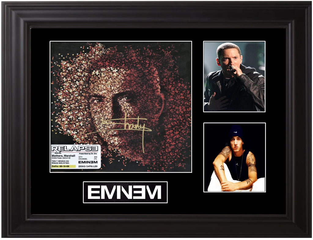 Eminem Autographed LP - Zion Graphic Collectibles