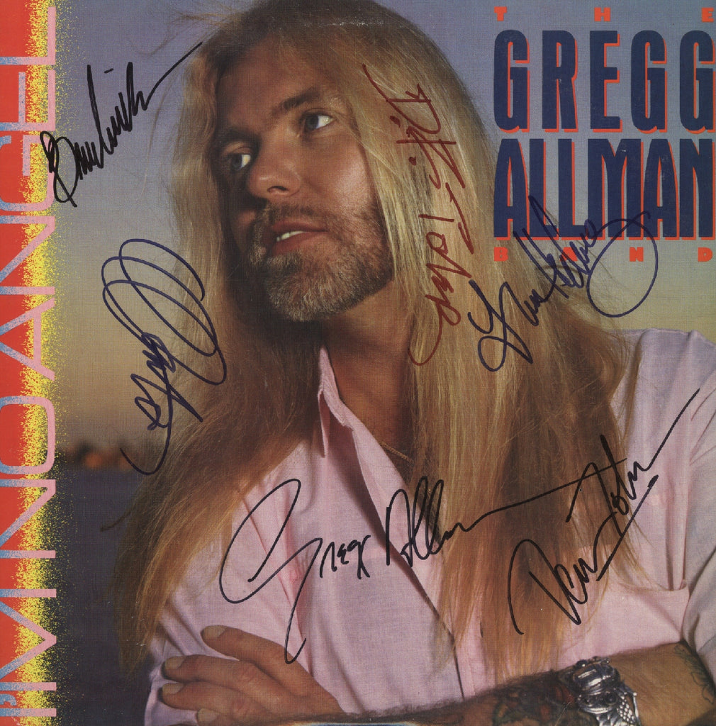 Greg Allman Autographed LP - Zion Graphic Collectibles