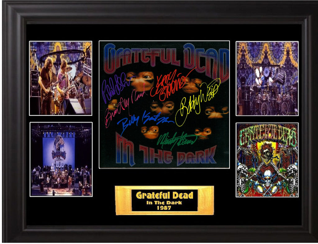 Grateful Dead Band Signed in the Dark Album