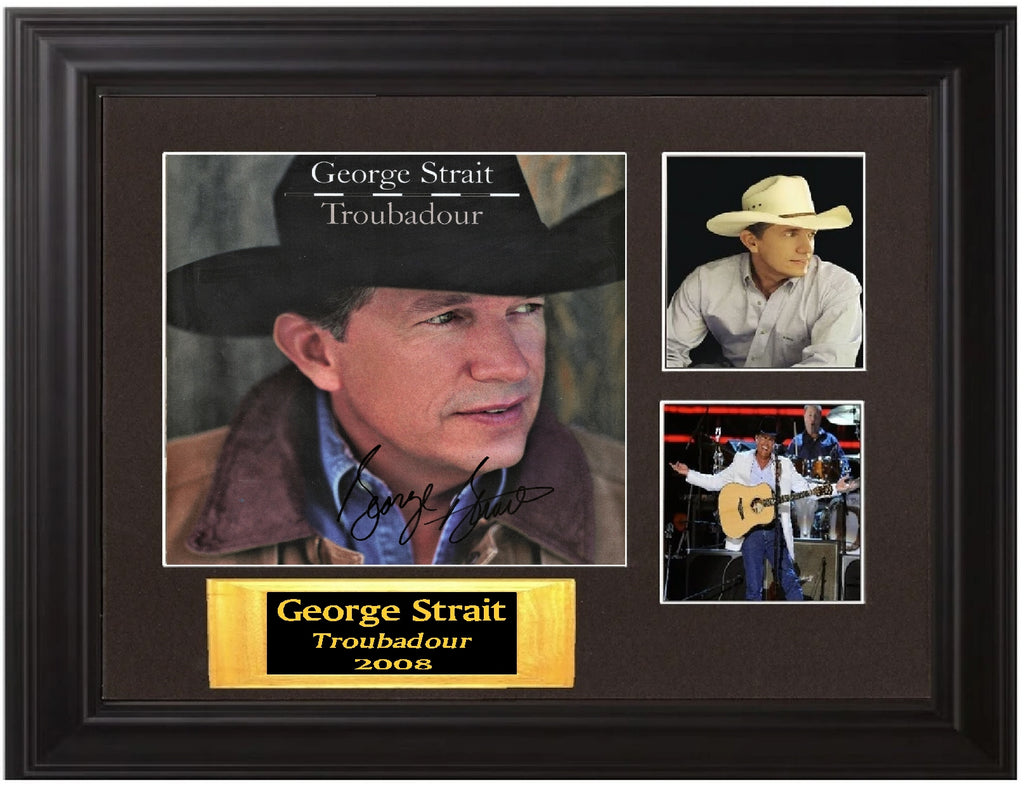 George Strait Autographed Lp - Zion Graphic Collectibles