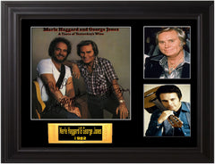 Merle Haggard & George Jones Autographed LP - Zion Graphic Collectibles
