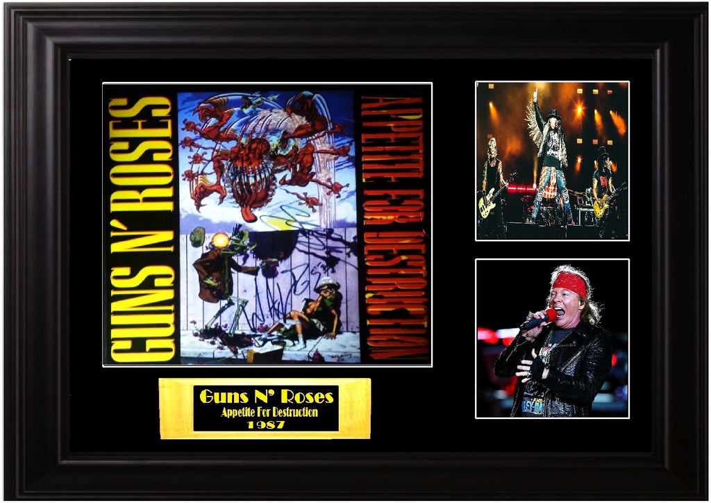 "Guns N Roses Autographed Appetite For Destruction"" Banned Cover"""