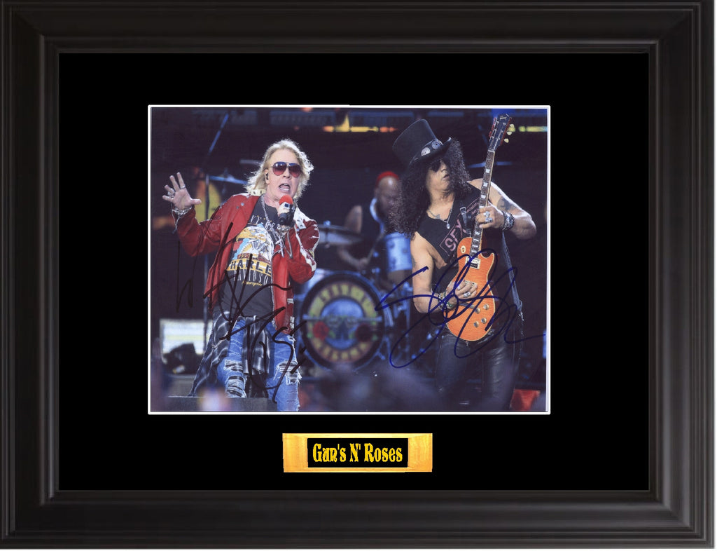 Gun's N' Roses Autographed photo - Zion Graphic Collectibles