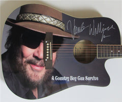 Hank Williams Jr. Autographed guitar - Zion Graphic Collectibles