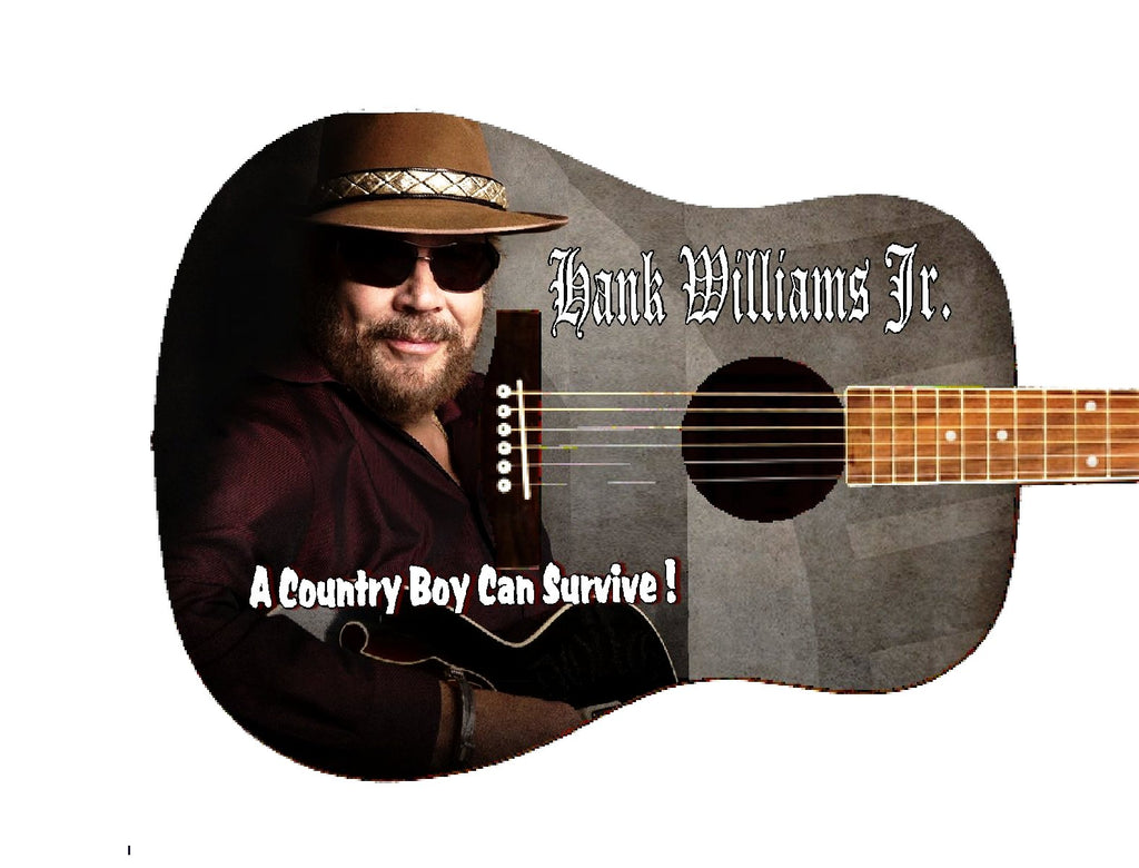 Hank Williams Jr. Custom Guitar - Zion Graphic Collectibles