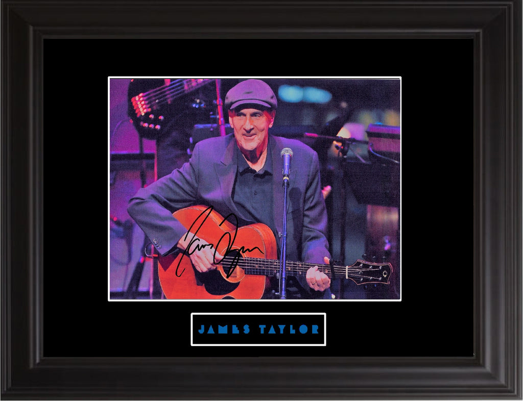 James Taylor Autographed Photo - Zion Graphic Collectibles