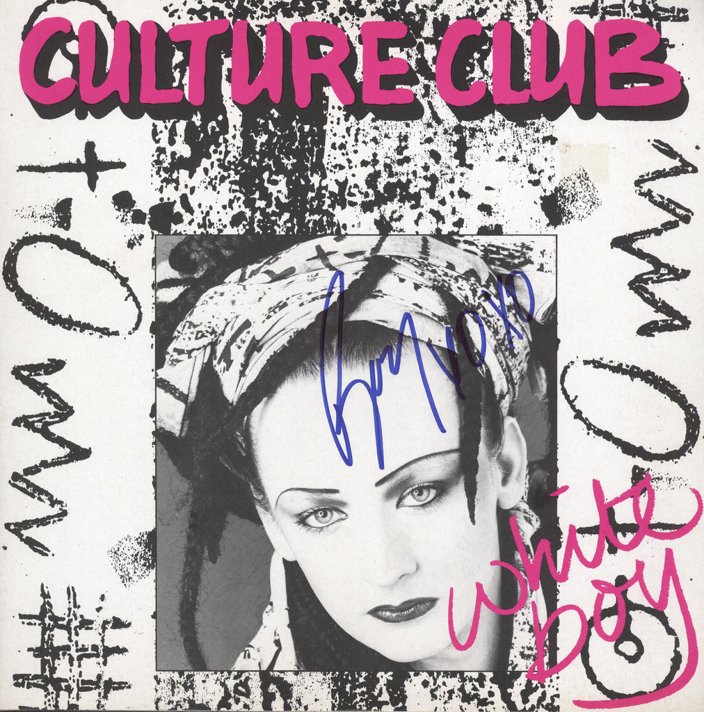 Culture Club Band Signed White boy Album - Zion Graphic Collectibles