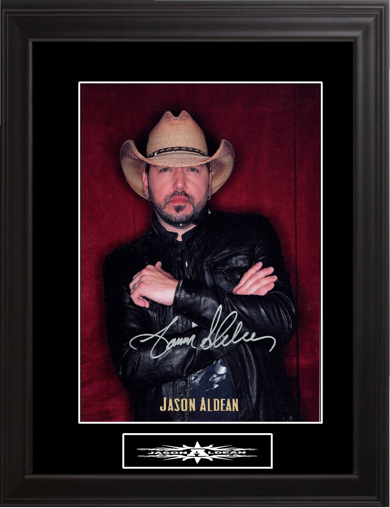 Jason Aldean Autographed Photo - Zion Graphic Collectibles