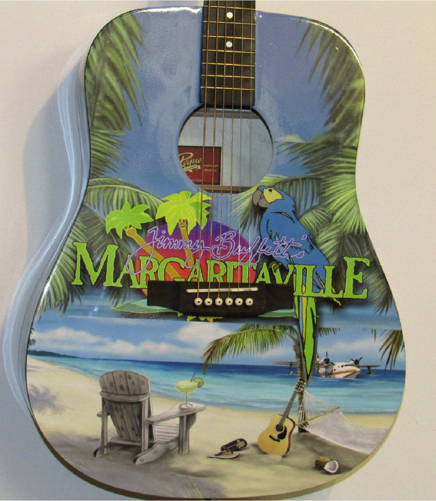Jimmy Buffett Custom Guitar - Zion Graphic Collectibles