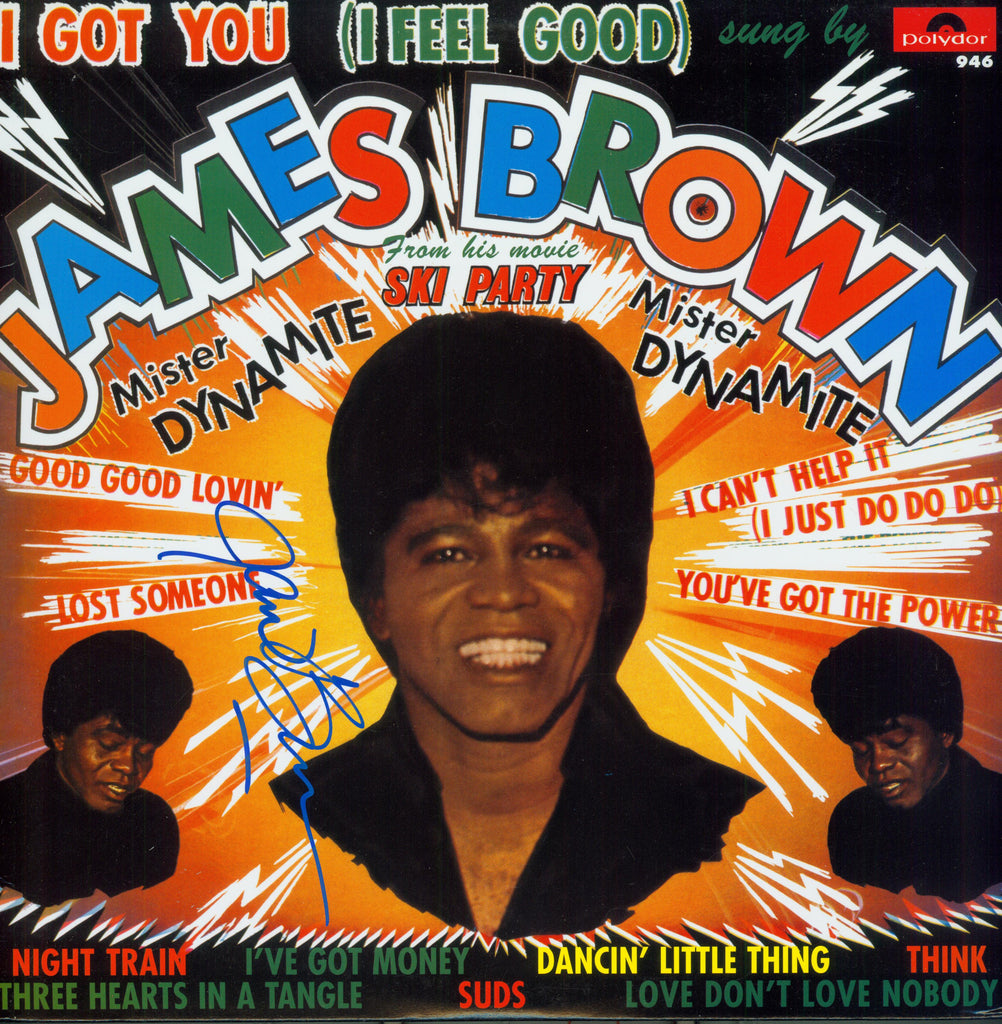 James Brown Autographed LP - Zion Graphic Collectibles