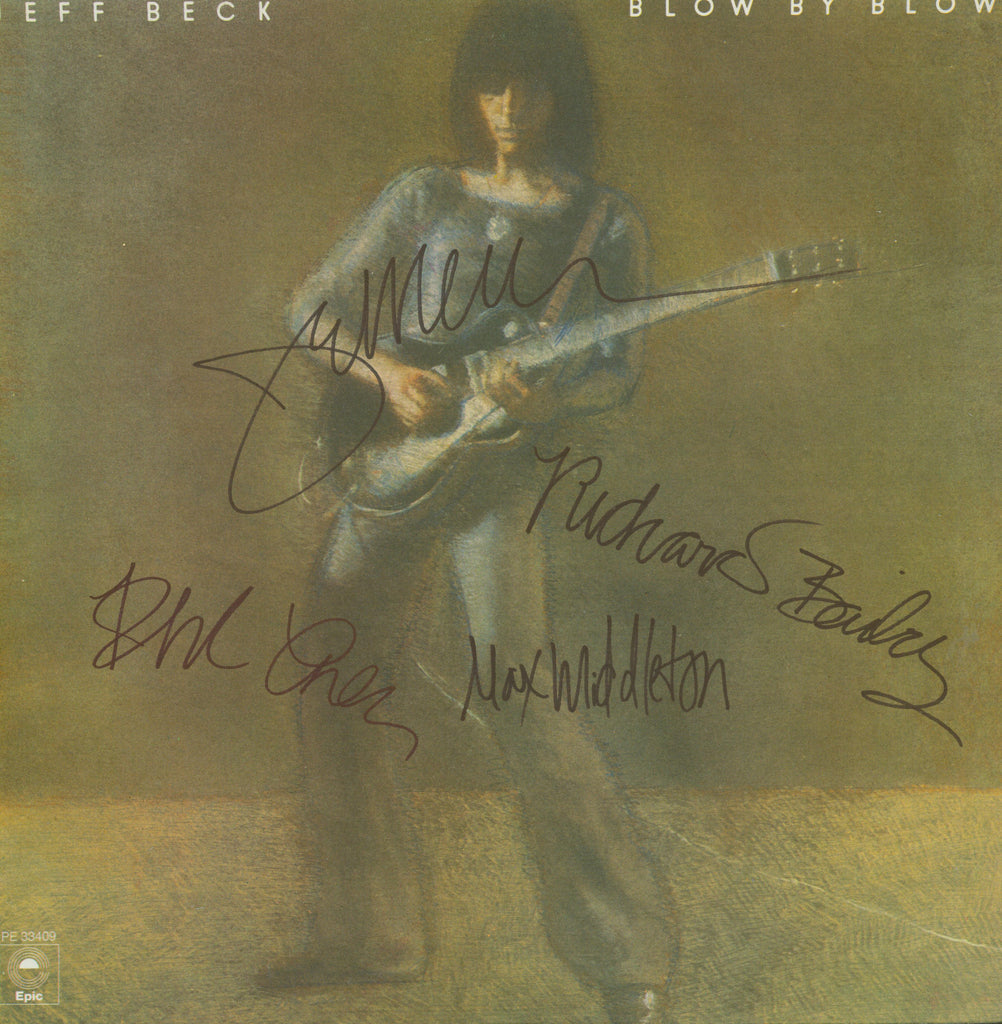 Jeff Beck Autographed lp