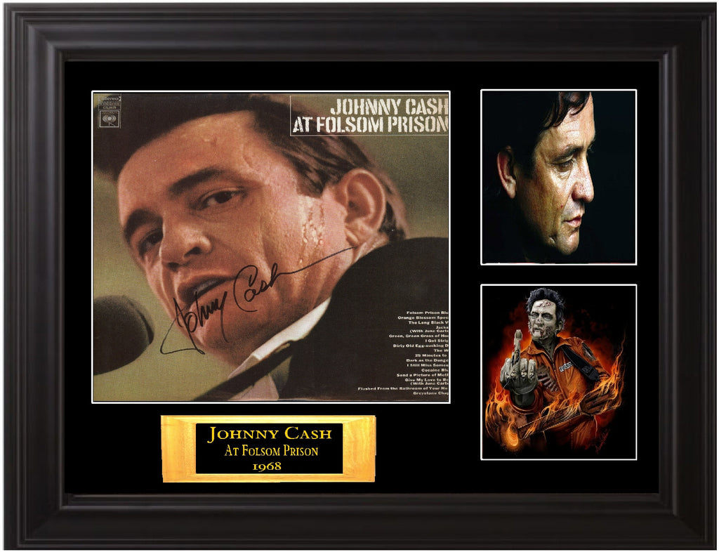 "Johnny Cash Autographed Lp ""At Folsom Prison"" - Zion Graphic Collectibles"