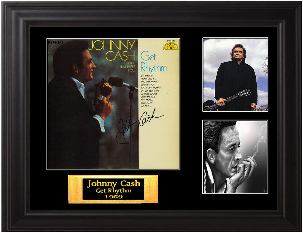 Johnny Cash Autographed original release Sun Records Lp - Zion Graphic Collectibles