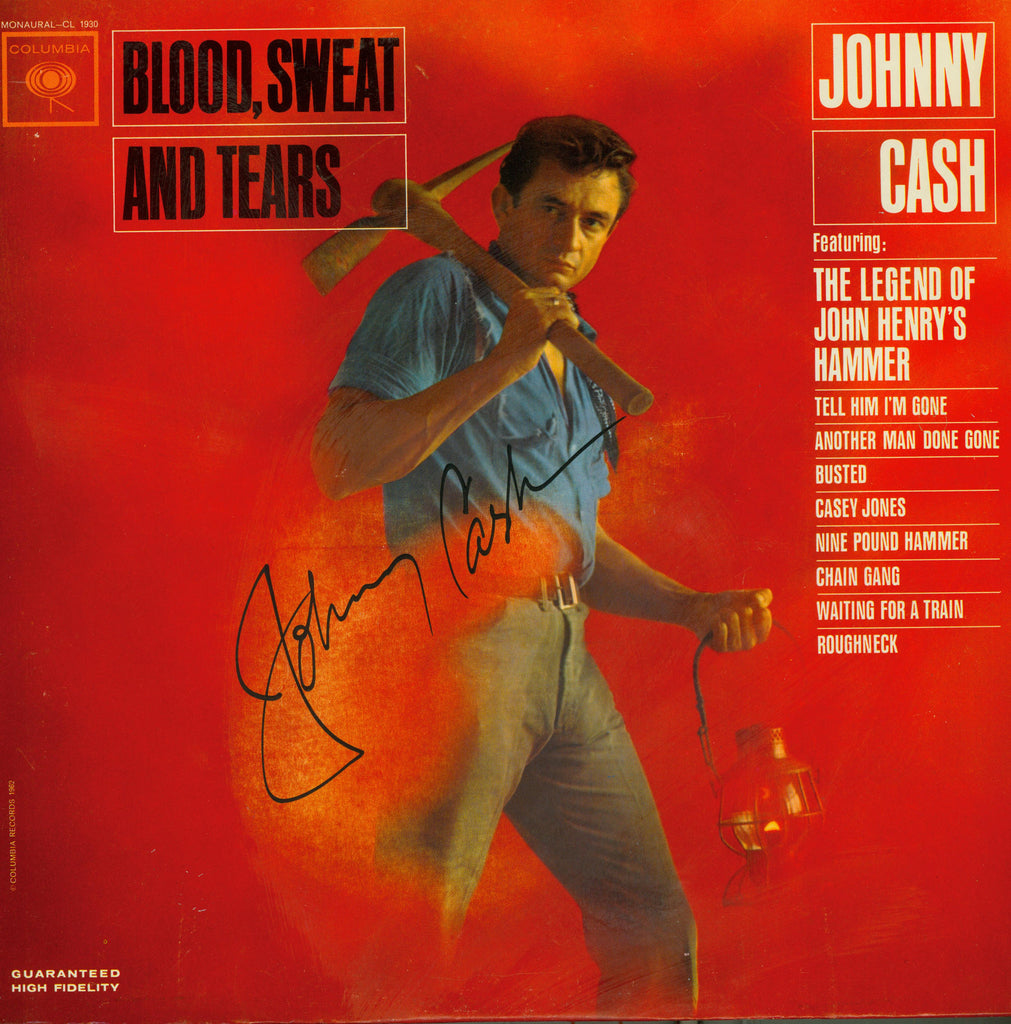 Johnny Cash Autographed LP - Zion Graphic Collectibles