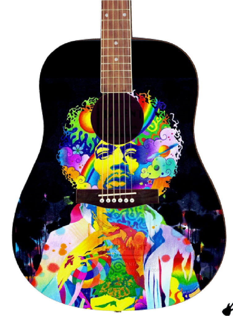 Jimi Hendrix Custon Guitar - Zion Graphic Collectibles