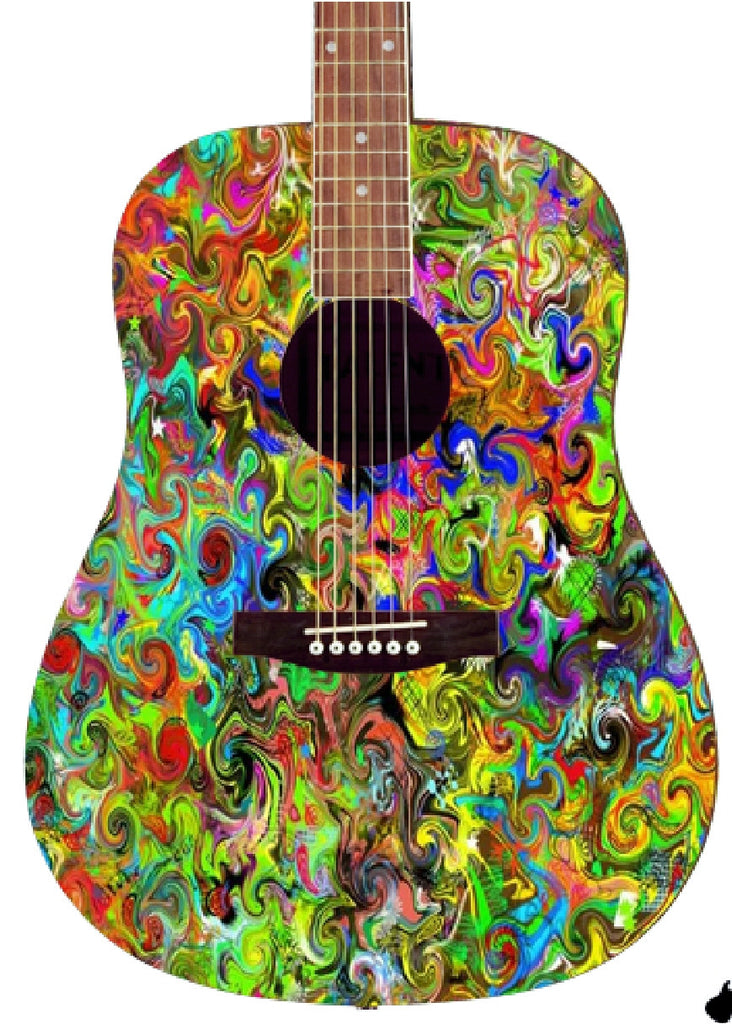 Jimi Hendrix Custom Guitar - Zion Graphic Collectibles
